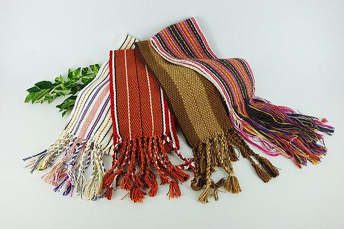 手織布短版圍巾-平織