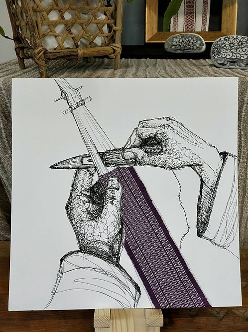 Weaving with painting