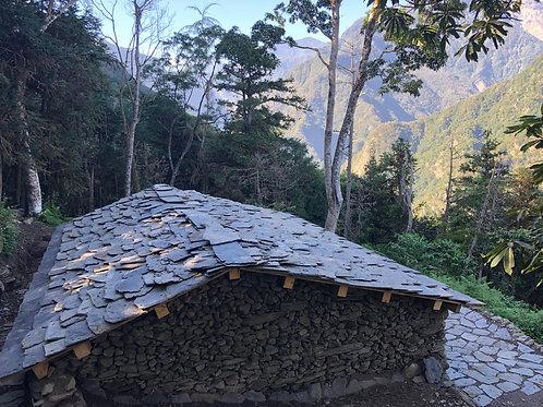 Slate stone house
