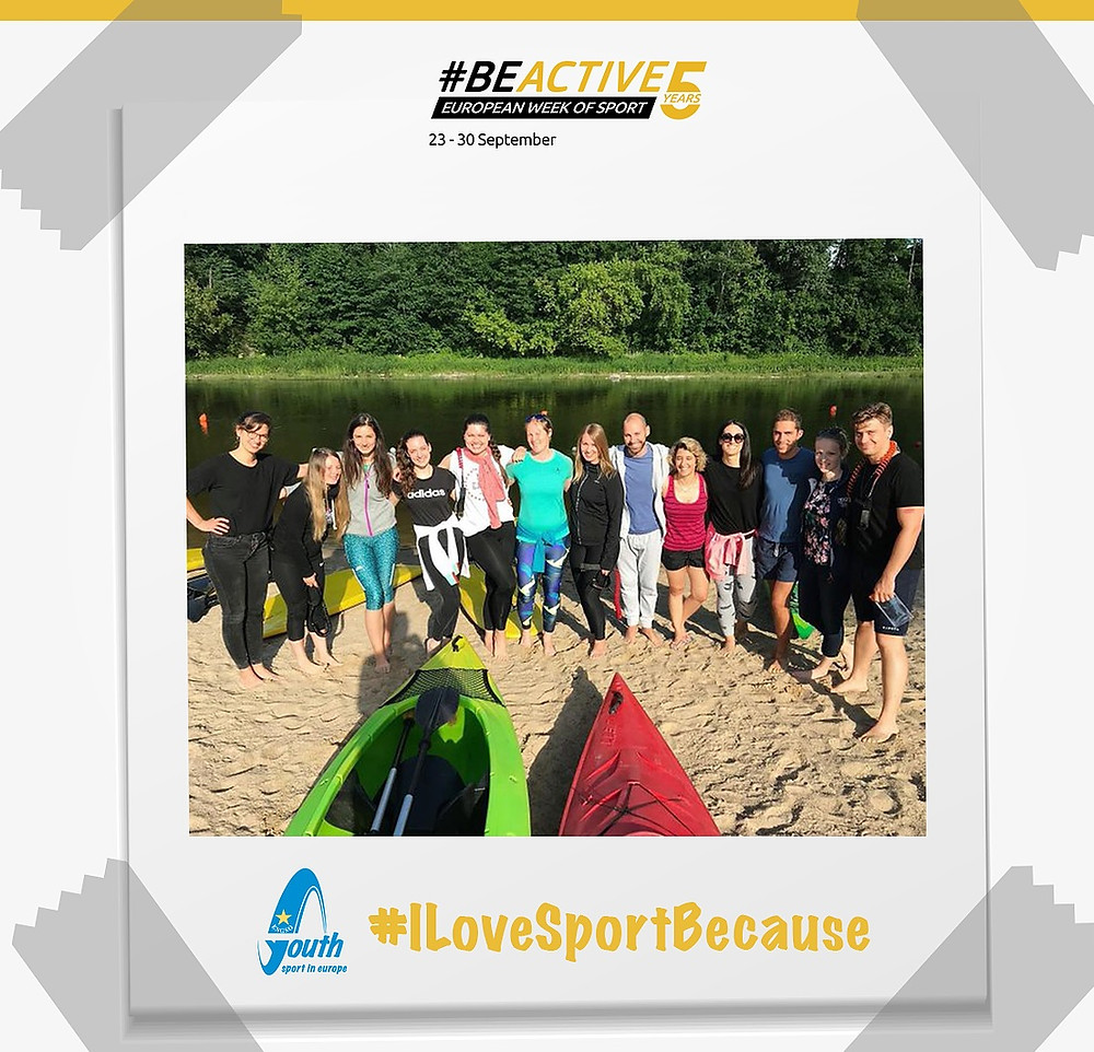 ENGSO Youth spread the #BeActive message through their #ILoveSportBecause campaign