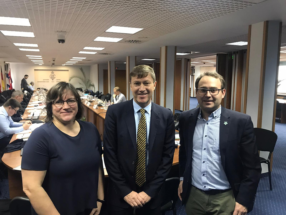 Ms Paola Ottonello and Mr Yves Le Lostecque from the EC with Mr Mikkel Larsen