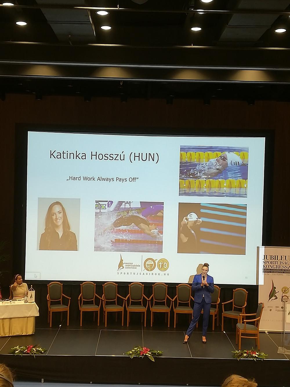 """Katinka Hosszú, also known as """"Iron Lady"""""""