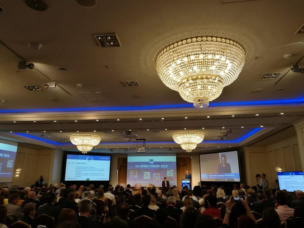 Full house during Antoaneta Angelova-Krasteva's opening address