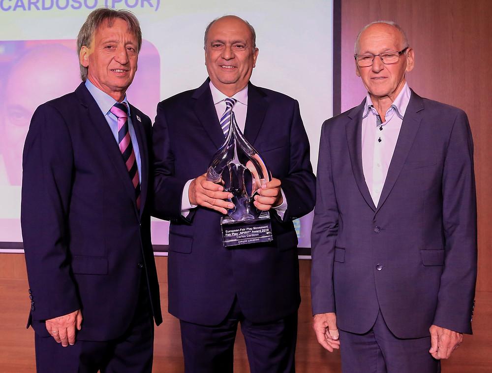 From left: EFPM President, Christian Hinterberger, Carlos Cardoso and Miroslav Cerar, EFPM Executive Committee member  (Photo credit: Tamás Róth and Attila Szűcs)