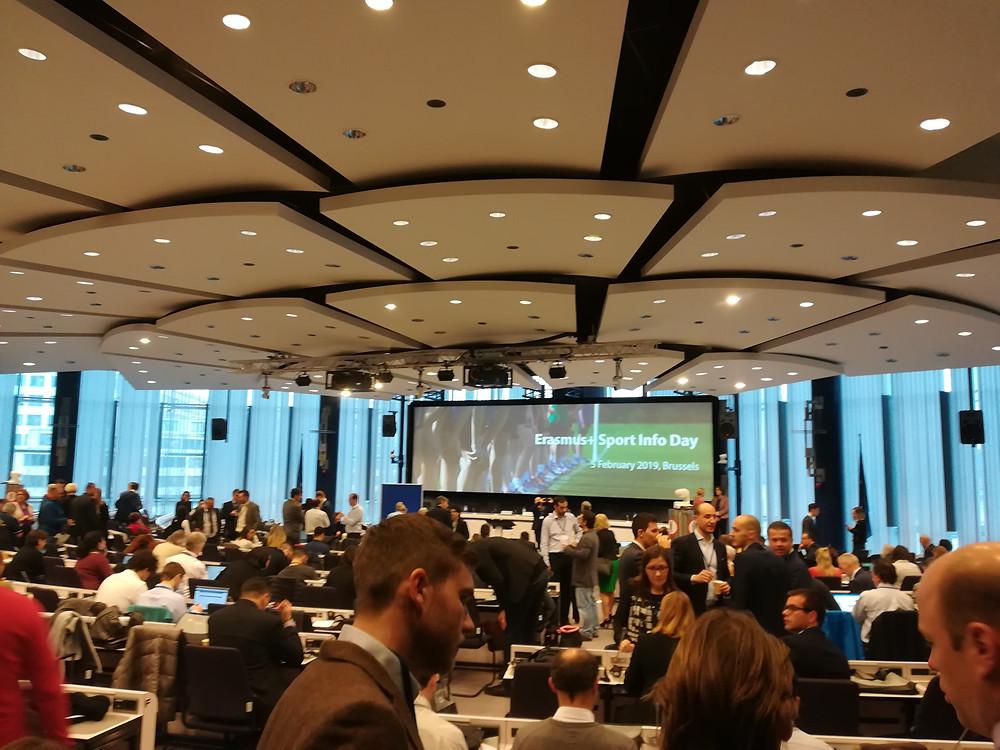 The plenary room of last year's Sport Infoday was full
