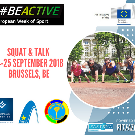 Save the Date of the #BEACTIVE squat & talk in Brussels on 24/25 September
