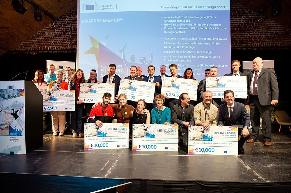 Winners of the #BeInclusive EU Sport Awards 2019