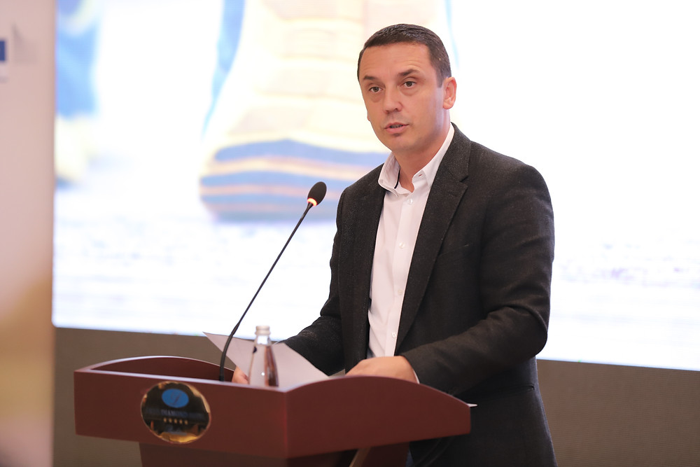 Kujtim Gashi, Minister responsible for sport, opening the Forum
