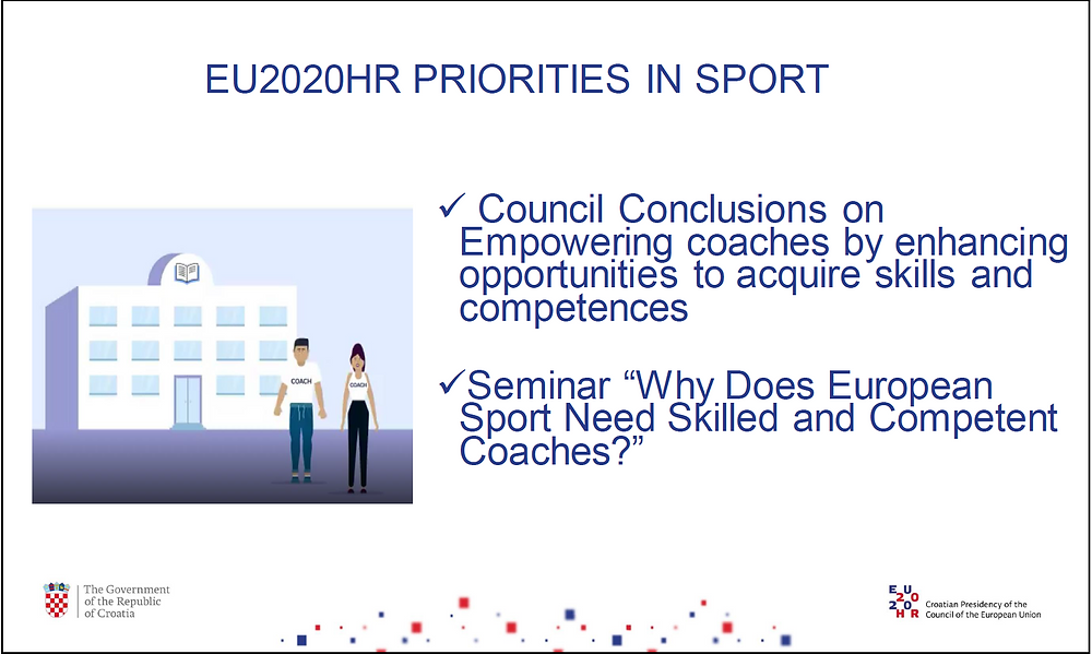 The priorities of the Croatian Presidency in the field of sport