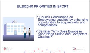 The priorities of the Croatian Presidency in the field of sport