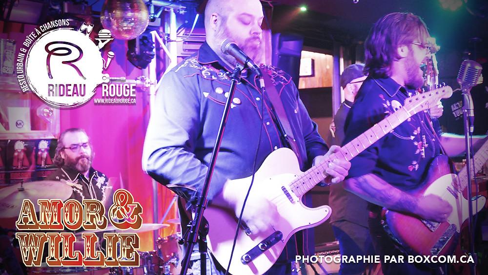 Amor & Willie en spectacle - Restaurant le Rideau Rouge
