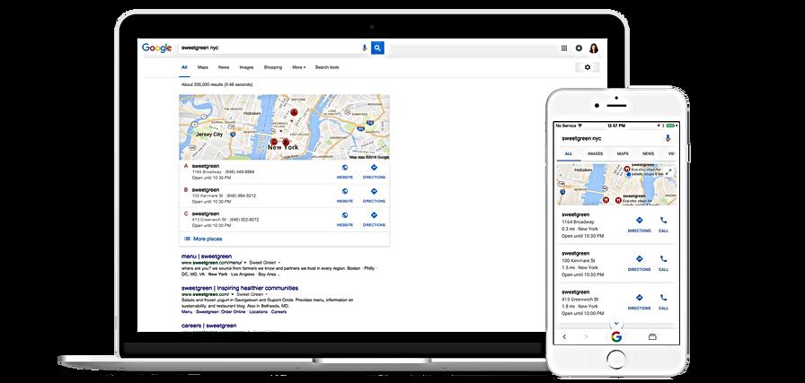 Positionnement de site Web sur Google