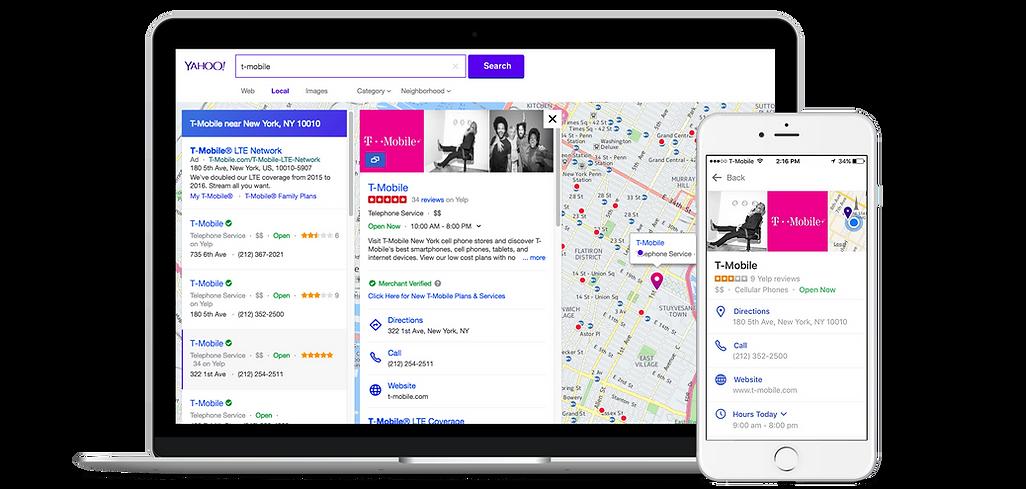 Exemple de référencement sur Yahoo