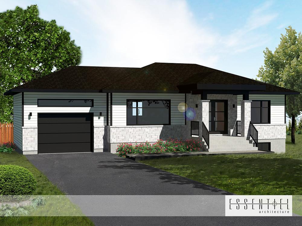Conception 3D de plan de construction de maison | Essentiel Architecture | Québec