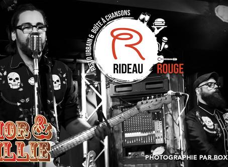 Amor & Willie en spectacle au Rideau Rouge à Québec