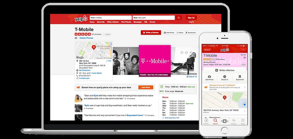 Page d'entreprise, Site référencement entreprise Yelp