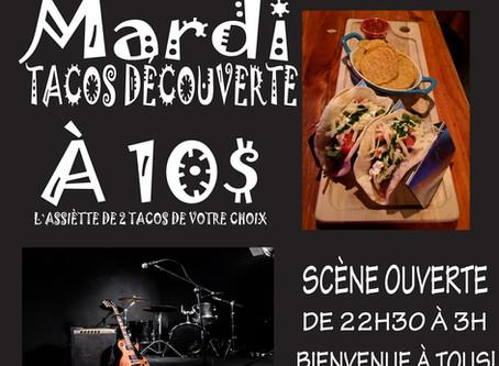 Mardi - Tacos découverte