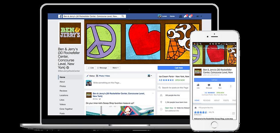 Exemple de gestion de page Facebook par Boxcom