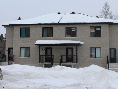 Construction d'un 4 logements par Midalto, société construction à Québec.
