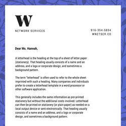 Papier à lettres avec entête