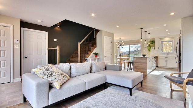 Modèle de maison à étage avec garage / Salon 1
