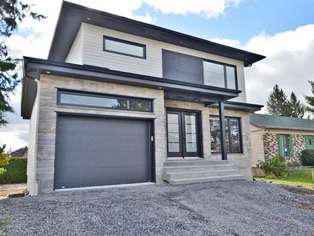Maison moderne neuve par Midalto / Entrepreneur en construction à Québec