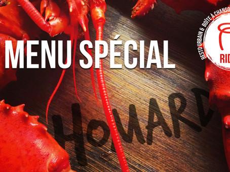 Menu spécial - Homard