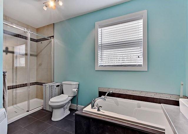 Modèsle de maison plain-pied contemporaine / Salle de bain 1
