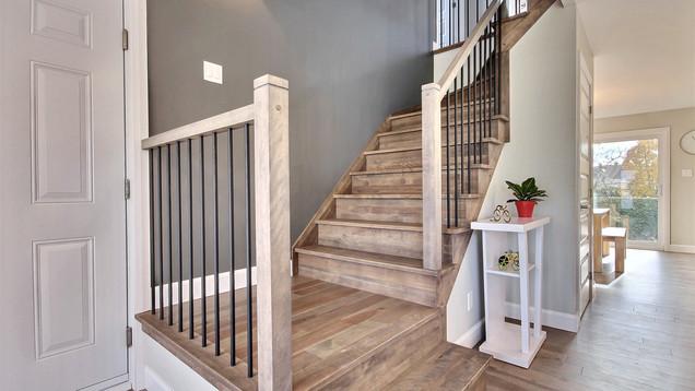 Modèle de maison à étage avec garage / Escalier