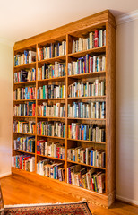 Built-in bookshelving units