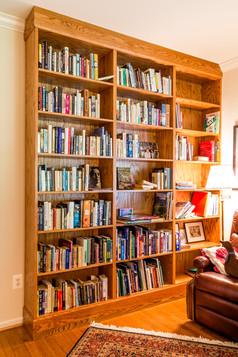 Built-in bookshelving units