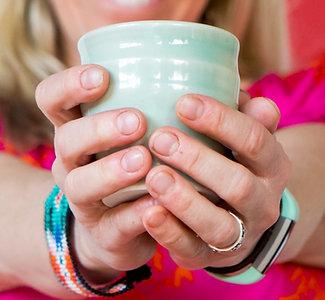 One porcelain goblet