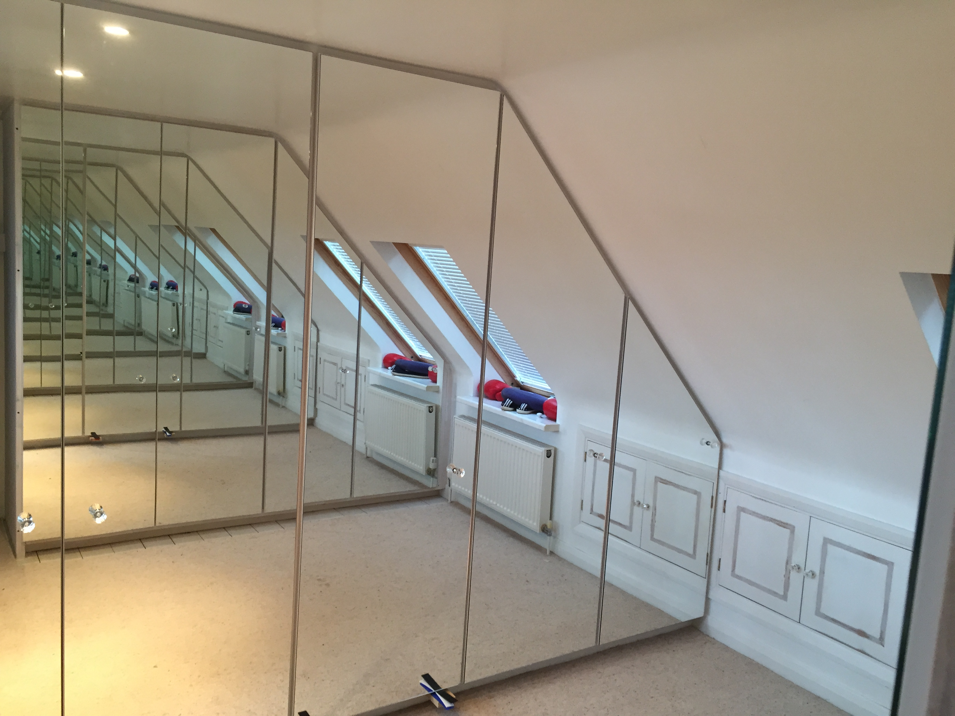 Hand made mirror wardrobes