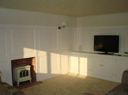Hand made wall panelling