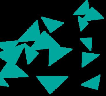 Dispersa azul Triángulos