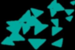 흩어져있는 파란색 삼각형