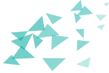 Scattered Bleu Triangles