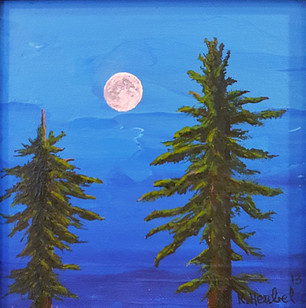 TWO PINES AT NIGHT