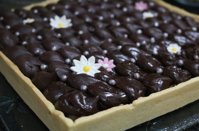 טארט שוקולד על קרם טופי אגוזים _ רוקחת החלומות