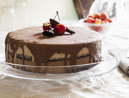 עוגת גלידת שוקולד ודובדבנים | רוקחת החלומות