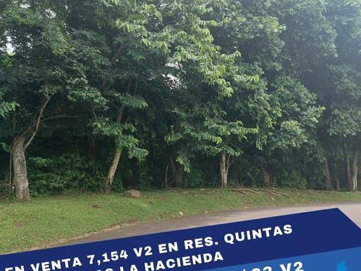 EN VENTA TERRENO DE 7,154 V2 C/U V2, EN RES. LA HACIENDA, SAN JOSÉ VILLANUEVA