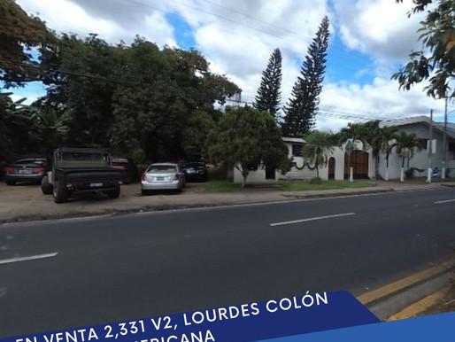 En venta 2,331 Varas en la entrada a Lourdes, Colón.