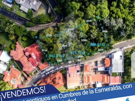 En venta 3 terrenos contiguos en Cumbres de la Esmeralda, con impresionante vista a la ciudad