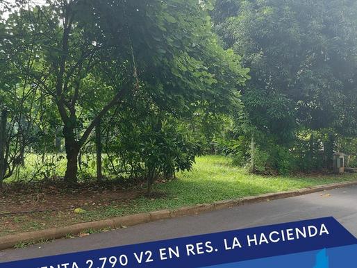 SE VENDE 2,790 V2 EN RES. QUINTAS RECREATIVAS LA HACIENDA Frente a casa Club