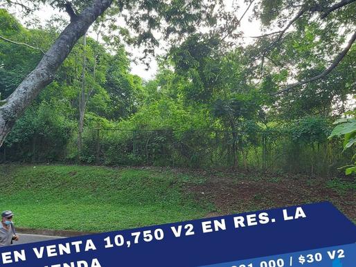 EN VENTA 10,750 V2 EN RES. QUINTAS RECREATIVAS LA HACIENDA