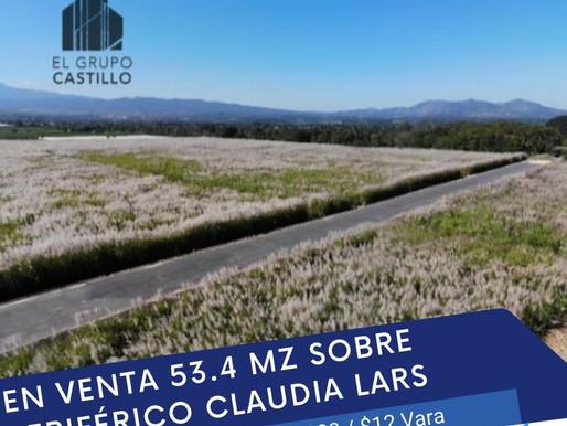 EN VENTA 53.4 MZ FRENTE A NUEVO PERIFÉRICO BYPASS CLAUDIA LARS