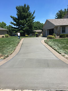 Decorative concrete work at Indianapolis home