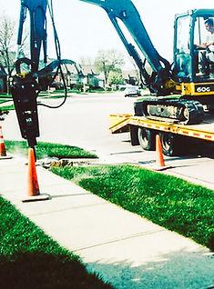 Concrete work on Indianapols sidewalk