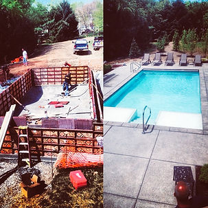 Concrete pool and patio work in Indianapolis