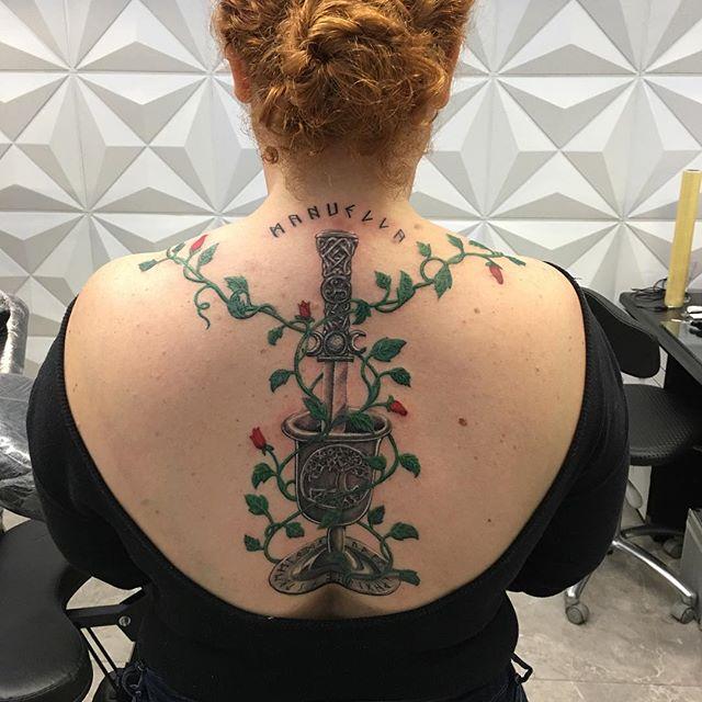 Tatuagem finalizada ontem.  Agende seu h